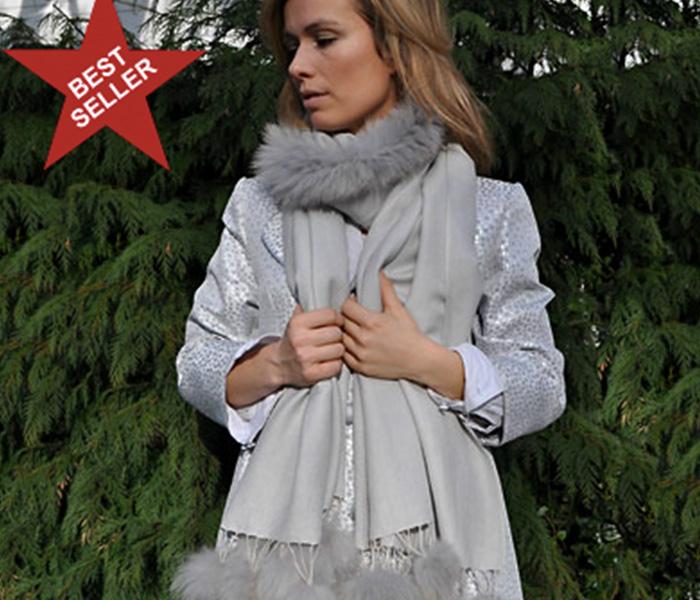 Grey-Plain-Fur-Shawl