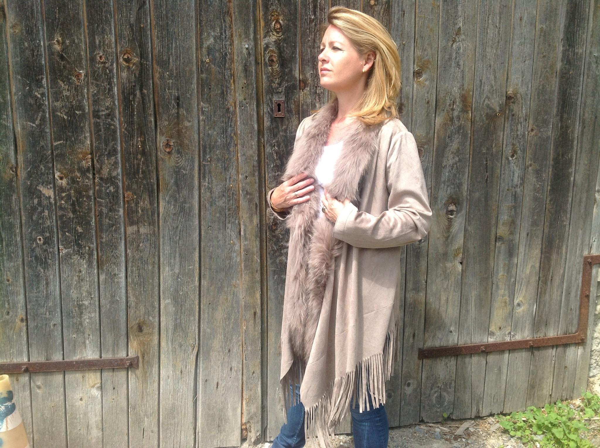 Mink faux suede coat-1