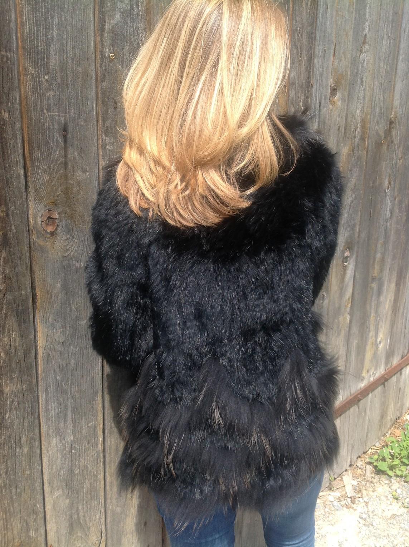 St Moritz black fur jacket – back