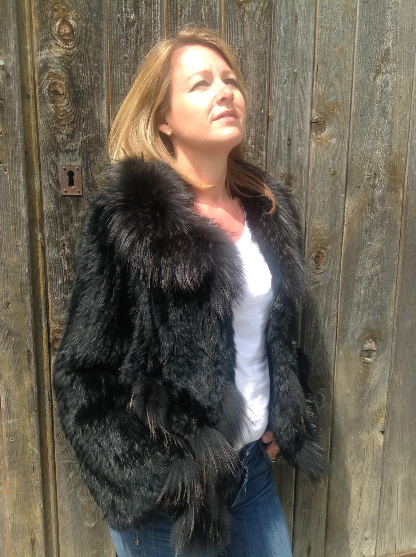 St Moritz black fur jacket